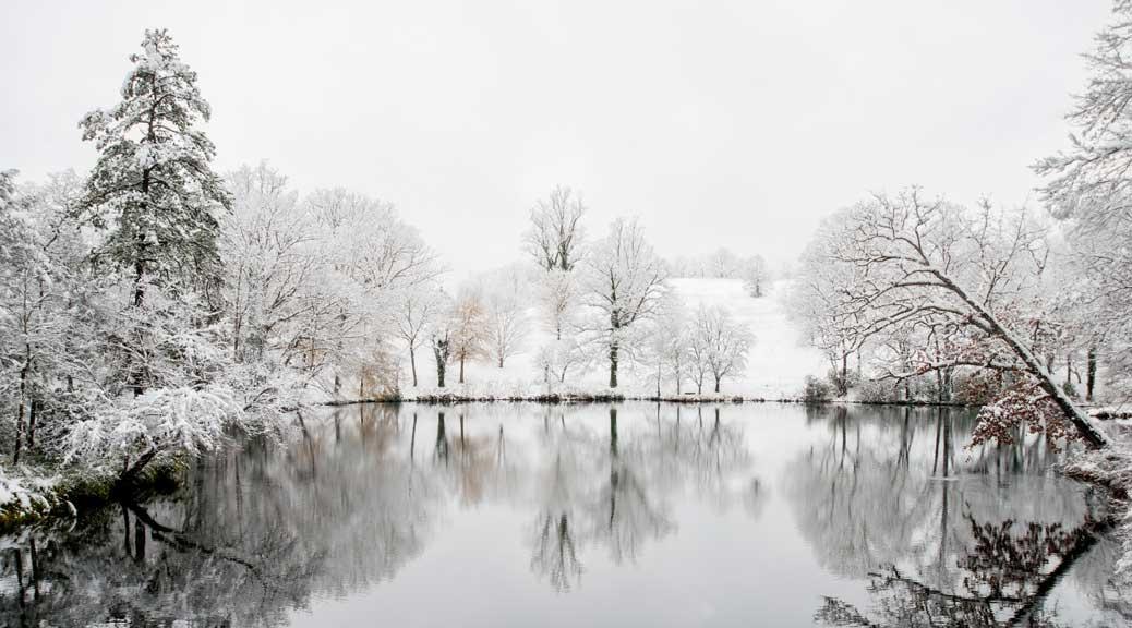 Reigando Budo, joulutauko, talvinen järvimaisema